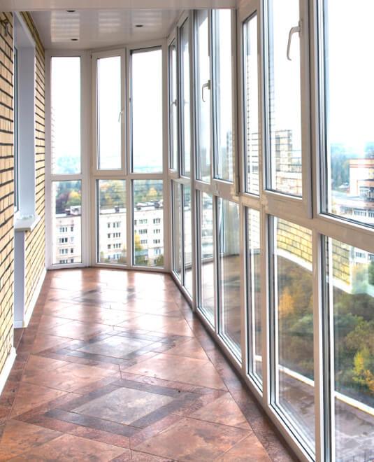 Остекление балкона. теплое и холодное остекление, фасадное, .