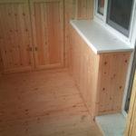 Обшиваем балкон изнутри деревянной вагонкой