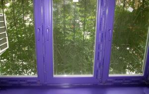 Фиолетовые окна