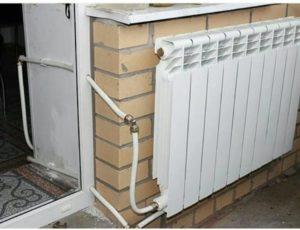 Как провести отопление на балкон