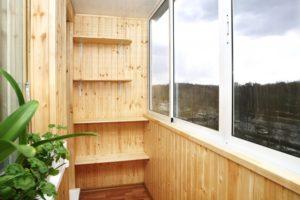 Вагонка на балконе