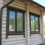 Как установить окна в деревянном доме